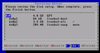 FreeBSD Partition Editor